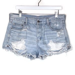 American Eagle Tomgirl Shortie Jean Denim Shorts